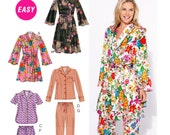 Women's Pajama Pattern, PJ's and Robe Pattern, McCall's Sewing Pattern 6659