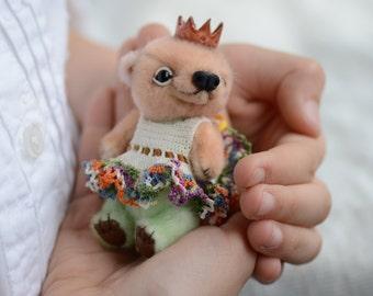 Beatrice - artist miniature mini micro bear by TSminibears