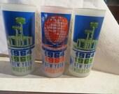 set of 3 Vintage 1964 New York Worlds Fair glasses