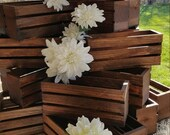 ON SALE wedding centerpiece flower planter box , wooden crates , Rustic wood crates , table centerpiece , flower vases , wedding decorations