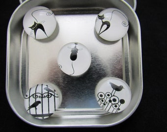 Cat Fridge Magnets that are very strong, 1 neodymium magnet holds 10 papers easily to fridge 474