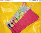 Spring sale sale sale Crayon roll butterfly on blue More crayon rolls in my shop