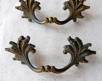 one (1) French Swedish style drawer pull 3 inch centers vintage