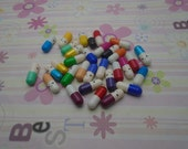 100pcs 20x6mm mix color wish pill capsule with a message inside, write your own love letter