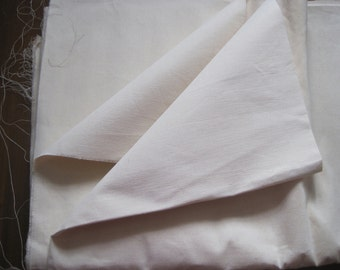 Huge long length unused French linen metis sheeting.  Great for curtains, blinds, upholstery, projects