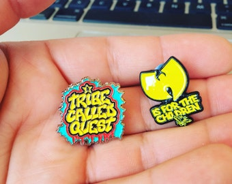 A Tribe Called Quest and Wu-tang  Soft Enamel Lapel Pins 1""