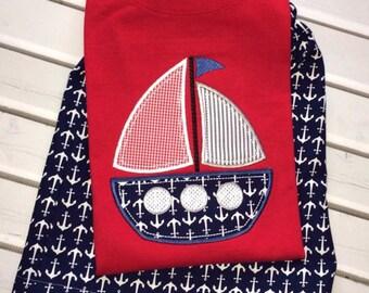Anchor Sailboat Shorts Set