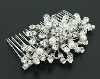Bridal hair piece,Pearl Wedding hair accessories,Wedding hair piece,Bridal hair comb,Wedding hair clip,Bridal comb pearl,Wedding hair piece