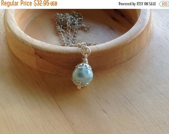 ON SALE Larimar Jewelry Larimar Pendant round bead 13 mm gifts under 35 *No chain included*