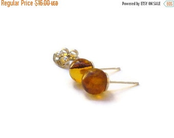 ON SALE Larimar Jewelry Dominican amber earrings post earrings studs minimalist style jewelry simple clean jewelry