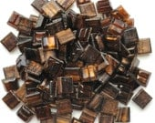 100 Tiger's Eye Golden Brown Streaked with Gold Translucent Mini Glass Tiles 3/8 in.//Mosaic Supplies//Mosaics