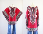 dashiki tunic / mini dress