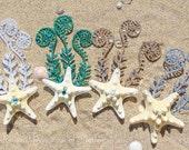 Starfish Hair Barrett- Starfish Hair Clip - Unique Stocking Stuffer - Seahorse Hair Accessory - Mermaid Starfish Clip -Beachy Chic Hair