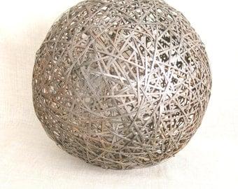 Large Decorative Ball, Sphere, Globe,, Rustic, Primitive Art, Sculpture, Wire Ball, Globes, Handmade, Metal Art, Sculptural Ball, Garden Art