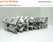ON SALE Set of 8 Gray Bridesmaid Clutches Gray and White Makeup Bags- ready to ship