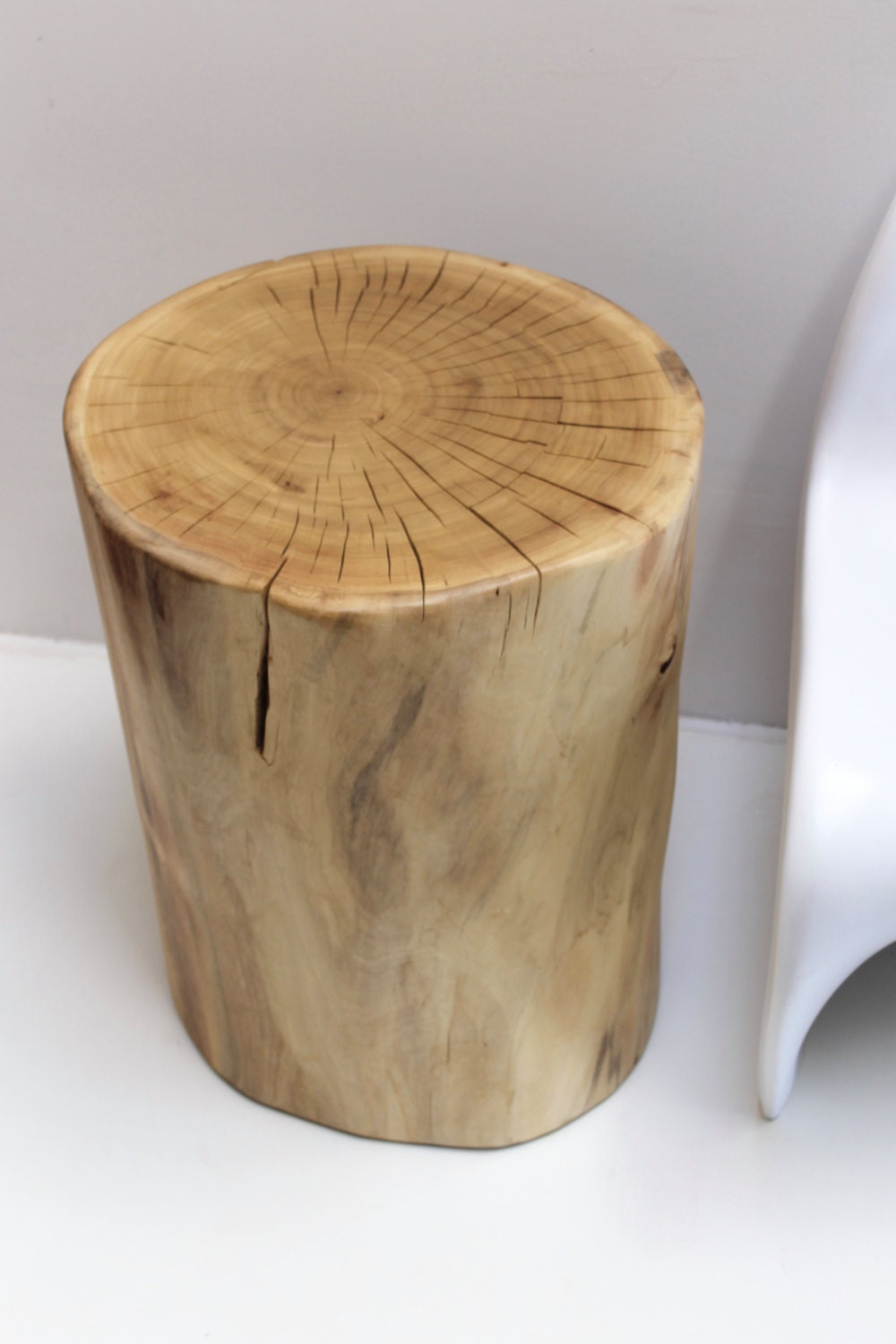 Tree stump side table minimalist modern for Wood stump end table