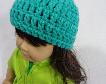 18 Inch Doll Hat, Crochet Beanie for American Girl, Winter Cap for Doll, Gift for Little Girl, Stocking Stuffer, Birthday Party Favor