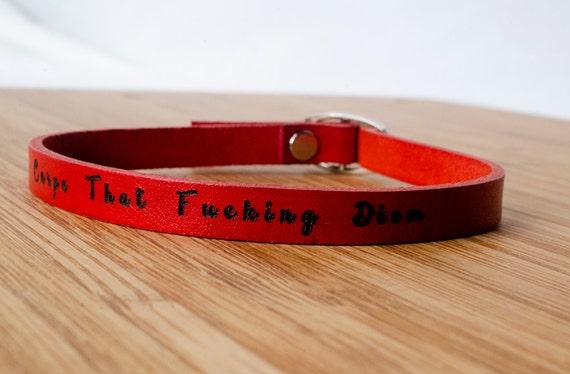 Carpe that F**ing Diem  Skinny Adjustable Leather Bracelet - Seize the Day