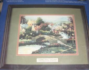 Thomas Kinkade Cross Stitch Kit - Lamplight Village