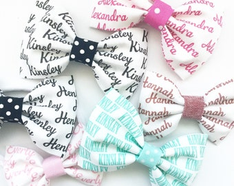 Personalized Bow - Personalized Headband - Baby Name Bow - Personalized Baby Gift - Baby Shower Gift - Custom Name Bow - Personalized Fabric