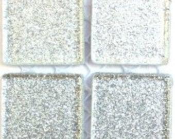 "Silver Glitter Tile 3/4"" -25 pc"