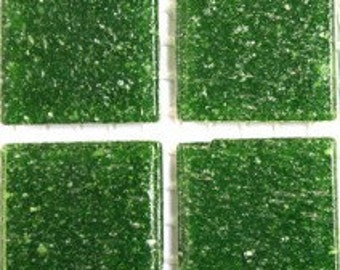 A26045 Olive Green Vitreous Glass Tile-25pk