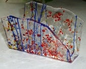 Fused Glass Business Card Holder -  Carnival 40116