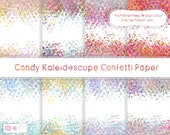 Handpainted Watercolor Confetti Papers: Star Confetti Paper, Pastel Papers, Digital Files, Background Papers, Digital Scrapbooking,