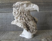 Small Eagle Statue, Horse Hair Pottery, Wyoming Made