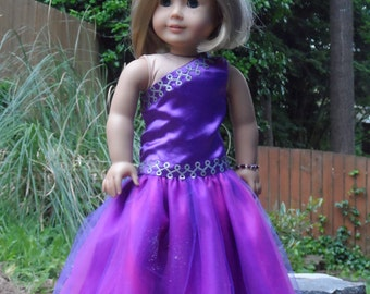 OOAK Evening Reversible gown, Prom Dress for your American Girl doll