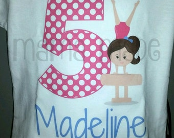 Gymnastics Birthday Shirt or Bodysuit Gymnast Party Gymnast Birthday Gymnast Tee Gymnast,.girls birthday shirt,gymnast party shirt,gymnast