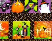 Pungkin Peers Halloween panel - treat bag panel - Halloween - studio e