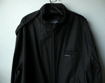 Vintage Black Members Only Jacket Size