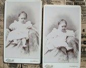 Two CDV Photo Cards - Barefoot Baby Charlotte