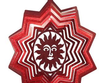 Sun Star Swirly Metal Wind Spinner