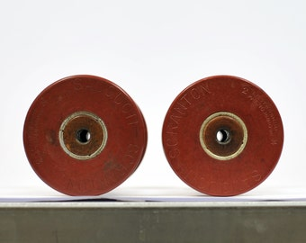 2 Vintage Bobbins - Spools - Store your twines and ribbons with style or use for photoshoots - OOAK - SAUQUOIT-SCRANTON - S100