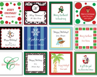 Custom Christmas Gift Cards Gift Bag Tags