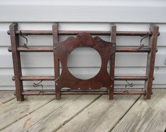 Antique Wooden Rack With Picture Frame