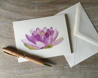 Lily Flower Note Cards - greetings, thank you, invitations. - Lotus flower