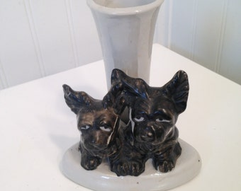 Vintage Scottie dog vase