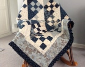 Shadows and Nine-Patches Ruffled Quilt
