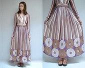Wrap Dress  //  70s Maxi Dress  //  THE MARDI GRAS