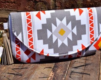 Tribal Clutch, Bridesmaids Wristlets, Custom Made Clutch, Bridesmaids Gifts, Bridesmaids Bags, Personalized Clutch