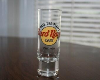 Vintage Hard Rock Cafe Chicago Shot Glass Save The Planet