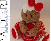 INSTANT DOWNLOAD : Baby's First Plushie - Gingerbread Girl Crochet Pattern