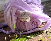 Sari Silk Lavender Kiss Mix Recycled Chiffon Silk Ribbon