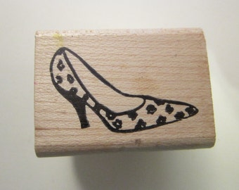 rubber stamp - LEOPARD HIGH HEEL - pump shoe, leopard spotted pump