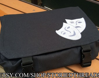 Drama Masks Tablet Messenger Bag
