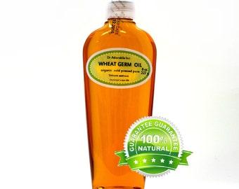 8 OZ Wheat Germ Oil 100%  Pure Organic Cold Pressed UNREFINED