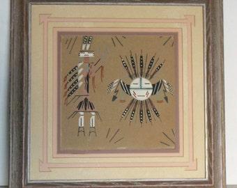 Large Navajo Sand Painting